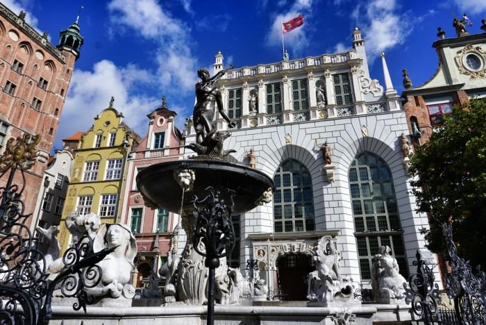 Neptunova fontána v centru města