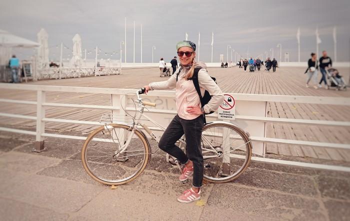 Na retro kole u mola v Sopotech